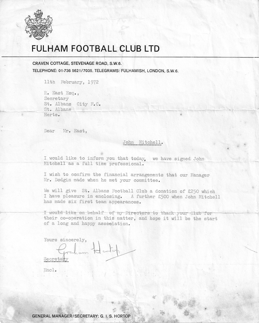 Fulham sign John Mitchell copy