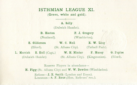 1929 Isthmian Lge v Spartan Lge 2small