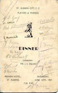 1937 Dinner signed 1 small