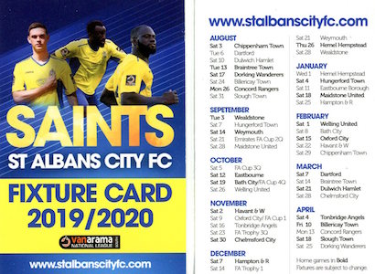 2019 20 Fixture card small